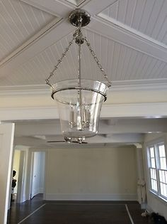Here is that beautiful chandelier I was just telling you about, all refinished and installed. Thank you again to The Big Chandelier. Beautiful Chandelier, Refinished, Pendant Light, Chandelier, Lighting, Ceiling Lights, House, Home Decor, Big Chandelier