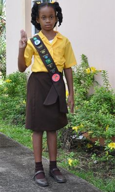 Brownie uniform in St. Vincent and the Grenadines World Thinking Day 2014