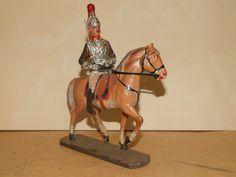 Antike Masse Figur 10,5 cm Elastolin Hausser Engländer Horse Guards zu Roß   eBay