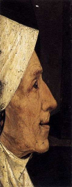 Head of an Old Woman - Artist: Hieronymus Bosch Style: Northern Renaissance Genre: portrait Gallery: Museum Boijmans van Beuningen, Rotterdam, Netherlands Hieronymus Bosch, Renaissance Artists, Renaissance Paintings, Free Art Prints, Dutch Painters, Oil Painting Reproductions, Large Painting, Art World, Art History