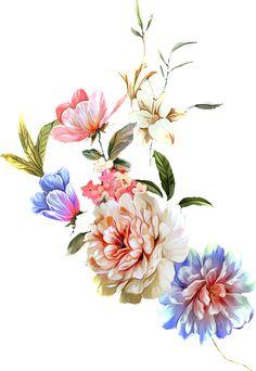 Flora Flowers, Birth Flowers, Bunch Of Flowers, Botanical Flowers, Colorful Flowers, Floral Border, Floral Motif, Floral Prints, Flower Ornaments