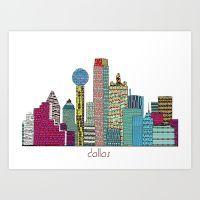Dallas City  Art Print