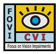 articles and support groups for CVI    Cortical visual impairment is also known as cerebral visual impairment, neurological visual impairment, and brain-damage-related visual impairment.