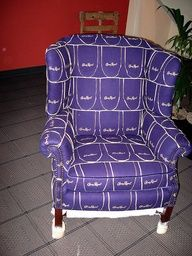 Crown Royal Bag Blanket Pattern | The Crown Royal Chair by PunkJr, via Flickr