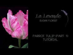 How to make Gumpaste Parrot Tulip Tutorial Part 1 | Christine Craig - La Lavande Sugar Florist