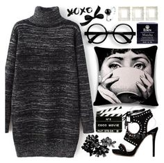"""""""Sweater dress"""" by pastelneon ❤ liked on Polyvore featuring Chanel"""