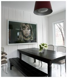 Large Photograph Portrait in Dining Room Large Photographs on Display