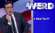 Stephen Colbert Has Some Incredibly Blunt 'Werds' For Trump