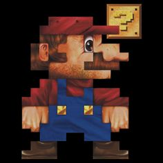 """8-Bit Mario Realistic"" by jimiyo | Redbubble"