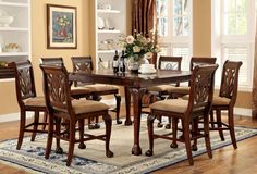 CM3185PT Counter Ht. Table With 8 Chairs 9Pc.Set Petersburg II Collection
