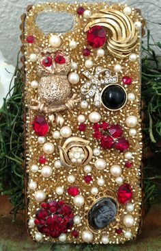 Gorgeous+Gold+and+Ruby+Bling+iPhone+5+Case+by+Kianaskases+on+Etsy,+$76.00