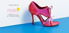 Manolo Blahnik Fuchia Spectator Sandal