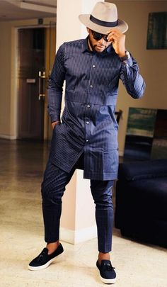 Nigerian Men Fashion, African Men Fashion, African Shirts For Men, Mega Fashion, Men's Outfits, African Attire, Beard Styles, Men Looks, Men Casual
