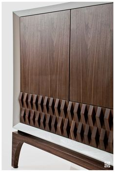 """""""The Campechana"""" is a cabinet designed by Sebastian Lara, which takes it inspiration from traditional weaving and Mexican furniture from the modernist period of the 50's. Its name appears as a tribute to the building of the government palace of the San Fr…"""