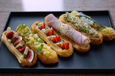 French pastry shop L'Éclair de Genie opens in Hong Kong Savory Pastry, Choux Pastry, Eclairs, Eclair Recipe, Sandwiches, Pastry Recipes, Afternoon Tea, Finger Foods, Gastronomia