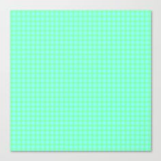 Green On Blue Plaid Canvas Print by Moonshine Paradise  #society6 #plaid #pattern #art #canvasprint