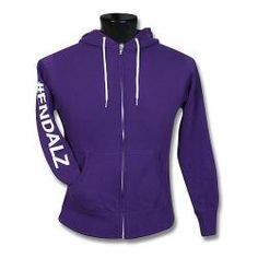 Stay warm and show your support by wearing this purple hooded unisex sweatshirt. | $39.99 - $41.99 | #ENDALZ #purple | http://shop.alz.org/Act-Move-Voice-Open/ENDALZ-Unisex-Hooded-Zip-up-Sweatshirt#
