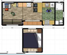 galera de casas diminutas 6 casas con entrada en el costado tiny houses floor planshouse - Tiny Home Design Plans