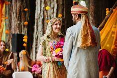 Cinema Wedding, Wedding Sets, Indian American Weddings, Outdoor Indian Wedding, Hindu Wedding Ceremony, Fairytale Weddings, South Asian Wedding, Woodland Wedding, Celebrity Weddings