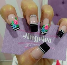 Nail Designs Spring, Nail Art Designs, Love Nails, My Nails, Fingernail Polish Designs, Fingernails Painted, Birthday Nails, Spring Nails, Nail Arts