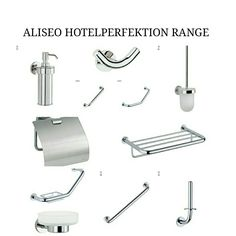 Get The HotelPerketion Range from Aliseo.  It's a great way to accessorize your bathroom at home,hotels and guesthouses.   Get yours now and contact us during office hours.