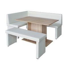 TEMPO KONDELA MODERN P rohová lavica - biela