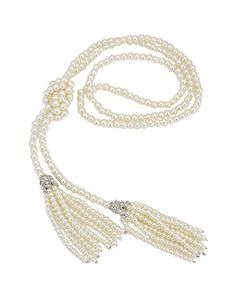 Tasseled Pearl Necklace