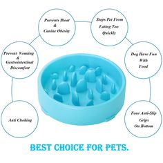JASGOOD Bloat Stop Dog Puzzle Bowl Maze Dog Food Water Bowl Pet Interactive Fun Feeder Slow Bowl SkidStop Design Blue Color >>> Extra info can be located at the image link. (This is an affiliate link). Gastrointestinal Disease, Slow Feeder, Dog Puzzles, Food Bowl, Safe Food, Dog Bowls, How To Introduce Yourself, Dog Food Recipes, Your Pet