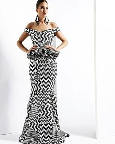 Look at this Classy modern african fashion African Dresses For Women, African Print Dresses, African Attire, African Fashion Dresses, African Wear, African Women, African Prints, African Outfits, African Style