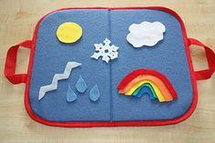 Weather play felt pieces