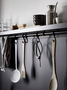 Ikea mosslanda picture ledge with fintorp rail as towel rack in bathroom