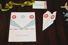 Frankie's Vintage Airplane Birthday Party // Hostess with the Mostess®