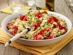Couscous Salad with Tomatoes and Mint recipe from Food Network Kitchen via Food Network