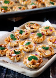 Quick and Easy to Make BBQ Chicken Pizza Phyllo Bites - a irresistible addition to your Super Bowl menu.