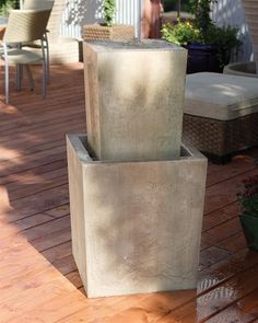 Free Shipping and No Sales Tax on the Fountain Squared Garden Water Fountain from Outdoor Fountain Pros.