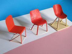 Odo Fioravanti Design Studio - #Dragonfly.  When a chair is still an idea, a little bit of colour and few pieces of paper.