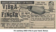 """""""Gum massage."""""""