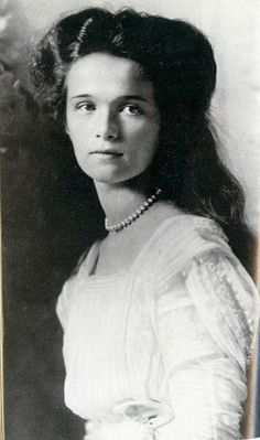 Her Imperial Highness Grand Duchess Olga Nikolaevna. Daughter of Nicholas II and Alexandra. Lived 1895-1918. Murdered by the Bolsheviks.