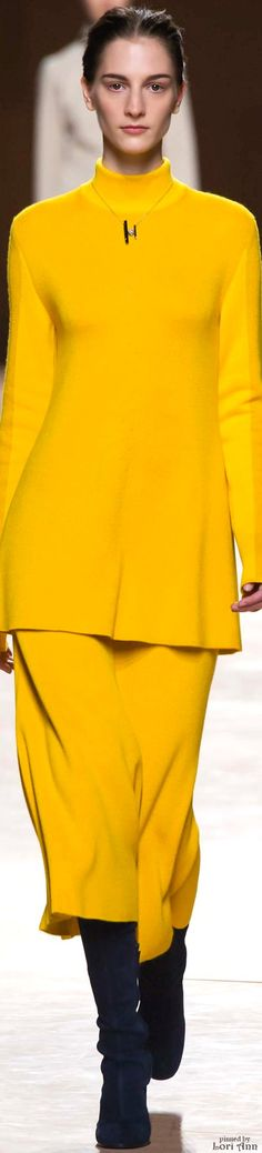 Hermès Fall 2015...MY MOTHER'S FAVORITE COLOR...YELLOW...RIP MOTHER