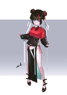 """れおえん * COMITIA ら69a on Twitter: """"×Tech… """" Female Character Design, Character Design References, Character Design Inspiration, Character Concept, Character Art, Anime Girl Cute, Anime Art Girl, Manga Girl, Manga Anime"""