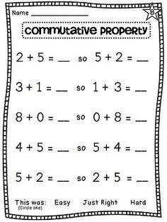 math worksheet : 1000 ideas about properties of addition on pinterest  : Addition Worksheets Third Grade