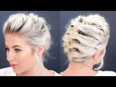Short Hair Tutorial Updo Less Than 5 Minutes | Milabu - YouTube