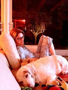 Gab, Mac & Toto. Peaceful evening at home...