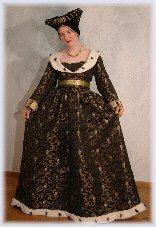 Kostüm mit Granatapfelmotiv