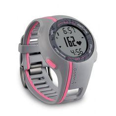 41afb7891f3 Relógio Esportivo Garmin Forerunner 110 com GPS e Cinta Peitoral Soft -  Cinza e Rosa -