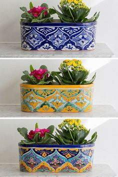 Check out this Classic mexican planters. Perfect for adding a splash of colour to your interiors. The post Classic mexican planters. Perfect for adding a splash of colour to your interior… appeared . Mexican Home Decor, Mexican Decorations, Mexican Bedroom, Mexican Style Homes, Mexican Kitchen Decor, Mexican Kitchens, Talavera Pottery, Hacienda Style, Mexican Designs