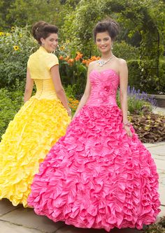 BallGown Sweetheart Taffeta Floor-length Yellow Lace-up Quinceanera Dress at sweetquinceaneradress.com