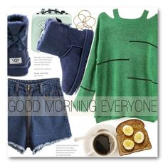"""""""Good Morning"""" by stylemoi-offical ❤ liked on Polyvore featuring H&M, UGG Australia and stylemoi"""