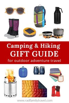 Year-round Gift Ideas for Your Favorite Campers, Hikers, and Backpackers who love adventure travel and the being outdoors! Here's your camping and hiking Gift Guide with 2020's coolest, innovative gear and gadgets. These 27 best holiday gift ideas come from 18  years of outdoor travel experience —help your outdoorsy guy or gal round out their gear with these thoughtfully chosen outdoor recreation presents. Hiking Gifts, Camping Gifts, Camping And Hiking, Travel With Kids, Family Travel, Gifts For Campers, Adventure Travel, Family Adventure, Outdoor Recreation