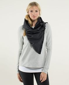 I love this scarf for working out -- fashionable and comfortable! Lululemon Vinyasa Scarf French Terry